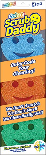 Sponge/Scrubber Colors – Scrub Daddy – 3 Pack, 9 Total