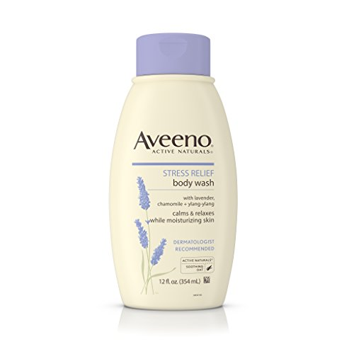 Aveeno Stress Relief Body Wash With Lavender, Chamomile And Ylang-Ylang Oils, 12 Fl. Oz. Pack of 3