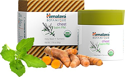 Himalaya Organic Chest Balm P.M/ I.E. Inhale-Exhale Balm for Chest and Nasel Congession Relief 1.76oz/50gm