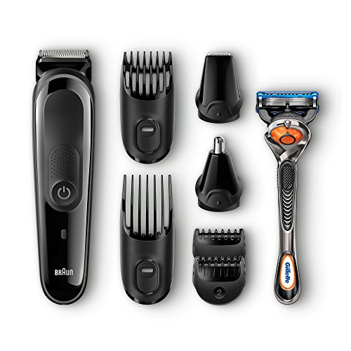 Braun Multi Grooming Kit MGK3060 – 8-in-1 Beard / Hair Trimmer for Men, Precision Face and Head Trimming