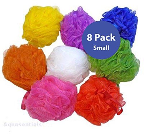 Aquasentials Mesh Pouf Bath Sponge 8 Pack Personal Care Need