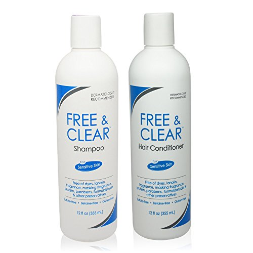 Free & Clear Set, includes Shampoo-12 Oz and Conditioner-12 Oz – One each.