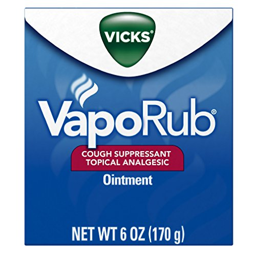 Vicks VapoRub Soothing Chest Rub Cough Suppressant, 6 Oz Pack of 2