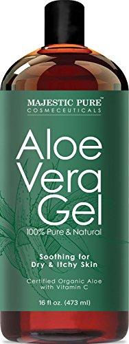 Majestic Pure Aloe Vera Gel, From Organic Cold Pressed Aloe Vera, 100% Natural, 16 fl oz