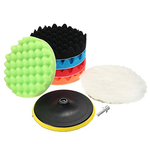 7 Polisher Buffer Soft Wool Bonnet Amp Pad With Hook Amp Loop