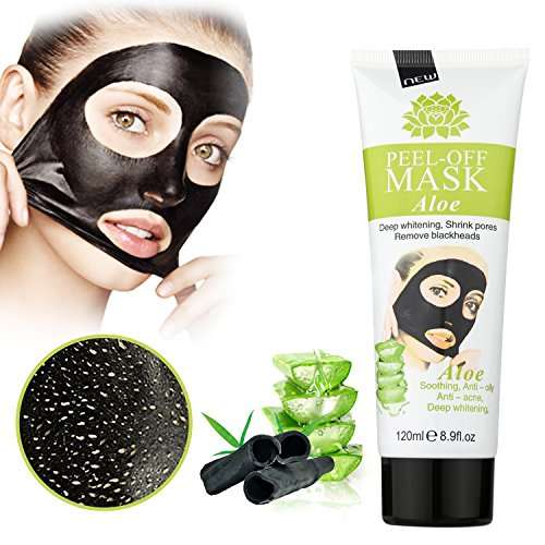 MEINAIER Blackhead Remover Mask,Blackhead Peel Off Mask,Purifying Peel-off Mask Black Mud Pore Removal Strip Mask For Face Nose Acne Treatment Aloe vera