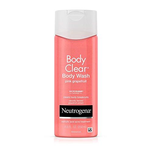 Neutrogena Body Clear Body Wash, Salicylic Acid Acne Treatment, Pink Grapefruit, 8.5 Fl. Oz. Pack of 3