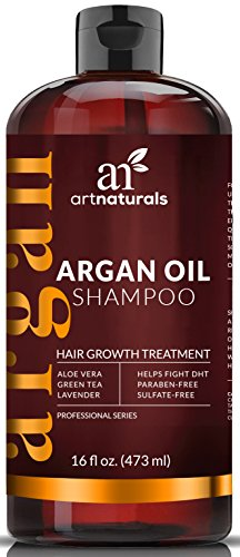 Best Treatment for Hair Loss, Thinning & – Art Naturals Organic Argan Oil Hair Loss Shampoo for Hair Regrowth 16 Oz – Growth Product For Men & Women – Sulfate Free – 2016 – Infused with Biotin