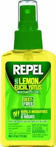 Repel Lemon Eucalyptus Natural Insect Repellent, 4-Ounce Pump Spray