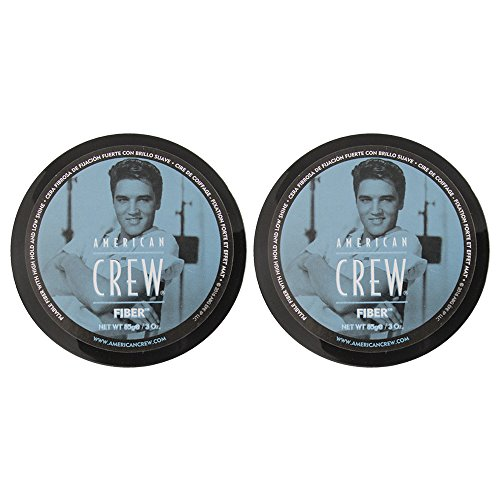 American Crew Fiber Pliable Molding Creme for Men, 3 Ounce Jars Pack of 2