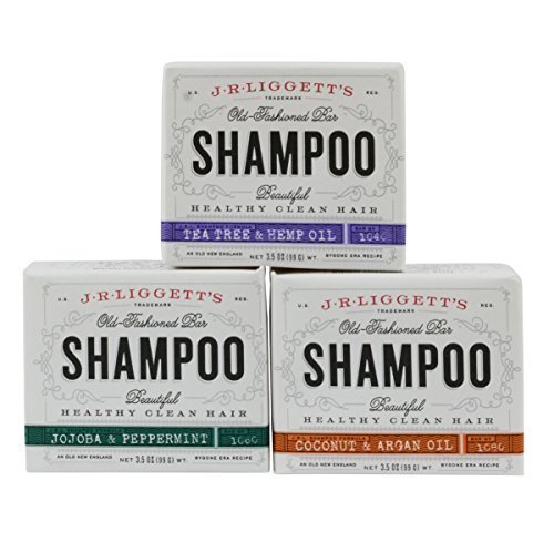 J.R. Liggett's Old Fashioned Shampoo Bar 3.5 Ounces Variety 3 Pack