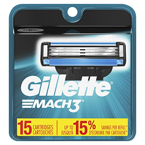 Gillette Mach3 Men's Razor Blades – 15 Refills Packaging May Vary