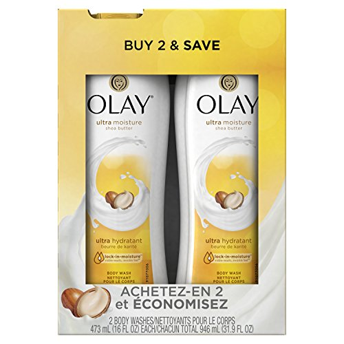 16 Fl Oz, Pack of 2 – Olay Ultra Moisture Body Wash with Shea Butter for Extra-Dry, Dry, Dull or Rough Skin