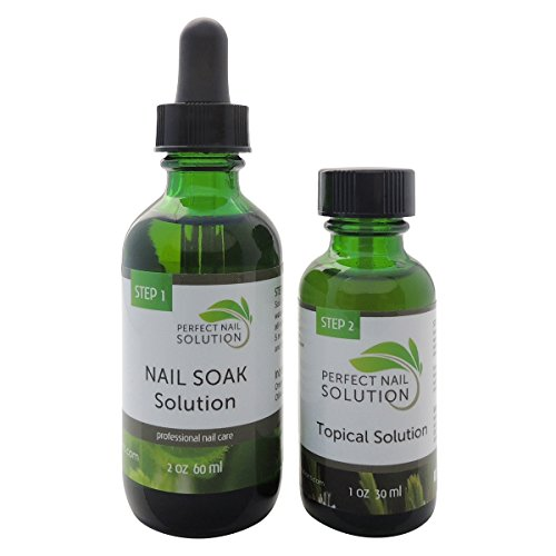 Natural 2-Step Topical Anti-Fungal Solution with Pure Essential Oils – Toenail Fungus Treatment – Removes Yellow from Infected Finger & Toe Nails