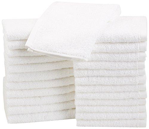 Pack – AmazonBasics Cotton Washcloths, 24