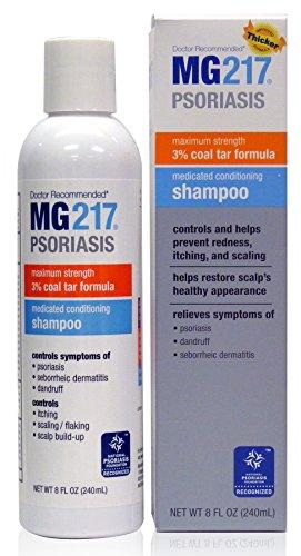 MG217 Psoriasis Medicated Conditioning Coal Tar Formula Shampoo, 8 Fluid Ounce