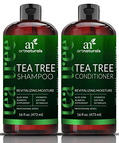 2 x 16oz – Sulfate Free – Made with Therapeutic Grade Tea Tree Essential Oil – ArtNaturals Tea-Tree-Oil Shampoo and Conditioner Set – Deep Cleansing for Dandruff, Dry Scalp & Itchy Hair – Men & Women