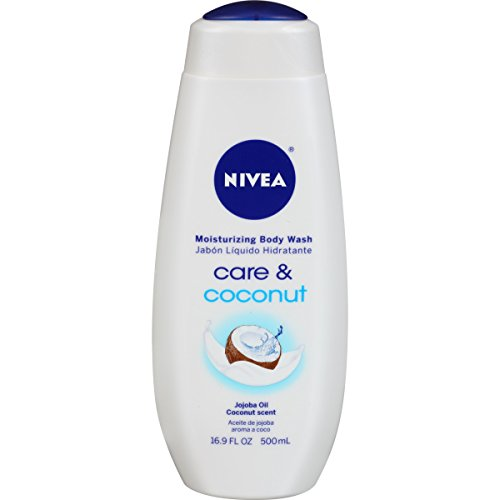 NIVEA Care and Coconut Moisturizing Body Wash 16.9 Fluid Ounce Pack of 3