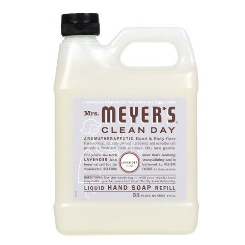 Lavender – 33 oz – 2 pk – Mrs. Meyer's Clean Day Liquid Hand Soap Refill