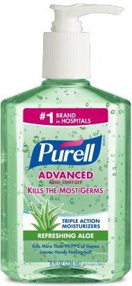 Purell Adv Aloe 8oz Pump 2 Pack