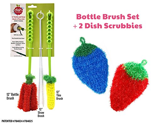 Dish Scrubber For Dishwashing 5 Pk Mix Net Cloth