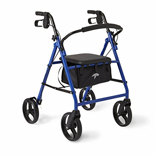 Medline Standard Steel Folding Rollator Walker With 6