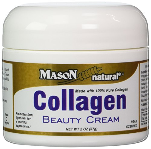Mason Vitamins Collagen Beauty Cream 100% Pure Collagen Pear Scent, 2-Ounce Jars Pack of 2