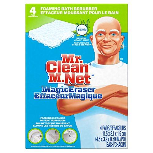 Mr. Clean Magic Eraser Bath Scrubber, 4-Count Pack of 2