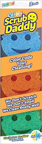 Scrub Daddy Color Sponge 3 Pack
