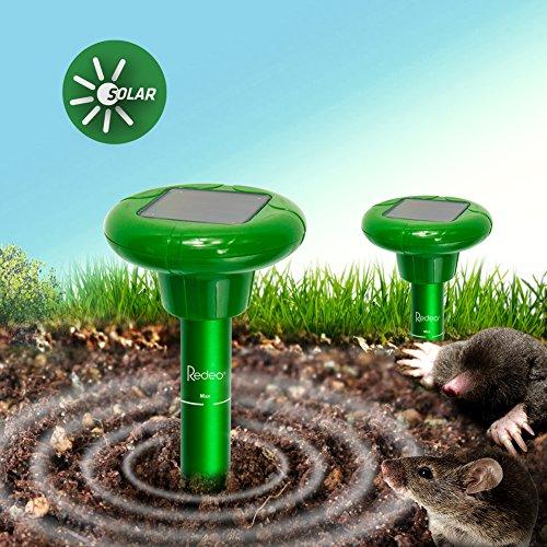 Redeo Mole Repeller Solar Mole Repellent Sonic Spike Mole