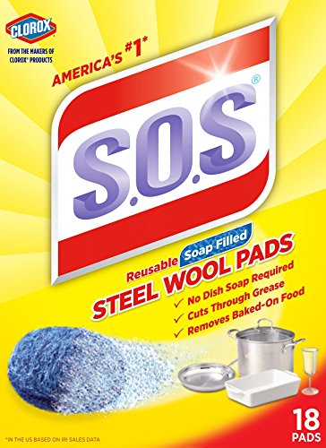 S.O.S Steel Wool Soap Pads, 18 Count Pack of 12