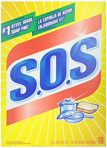 S.O.S 98018 S.O.S Steel Wool Soap Pads 18 Count