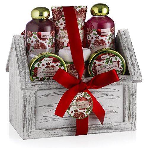 Christmas gift spa basket set luxurious piece bath
