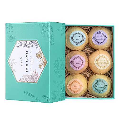 Bath Bombs Gift Set Usa 6 Large Ball Natural Essential