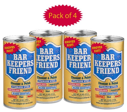 bar keepers friend soft cleanser liquid 13 oz and non scratch scouring scrubber kit. Black Bedroom Furniture Sets. Home Design Ideas
