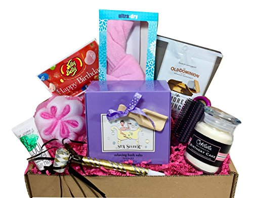 Bath Bomb Set Spa Birthday Gift Basket Box For Her Women Mom Aunt Sister Or Friend Unique