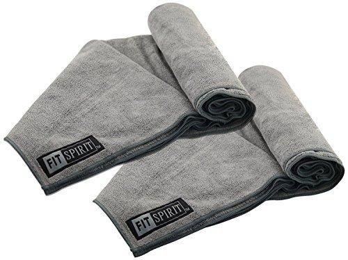 Microfiber Golf Towel Black Pack Of 2 Sweat Face Hand