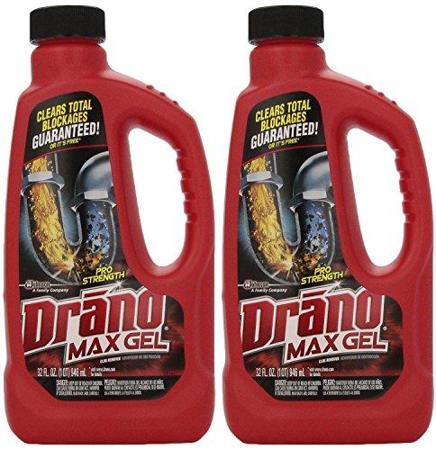 Drano 00117 2pk Max Clog Remover Pack Of 2 32 Oz
