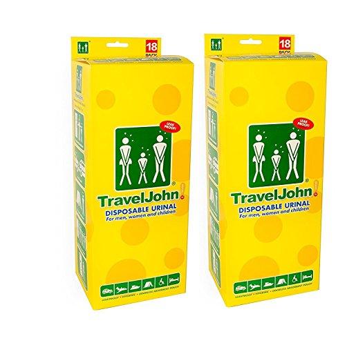 Traveljohn Disposable Urinal 36 Urinal Bags Personal
