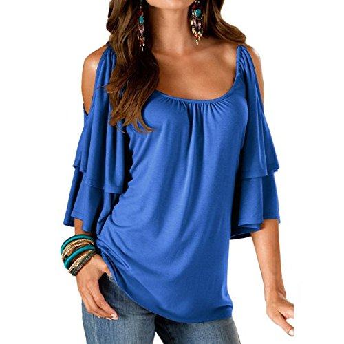 05828281 AmyDong Women's T-Shirt, Sexy Women Summer Loose Top Short Sleeve Blouse  Off Shoulder Casual Tops T-Shirt Off-Shoulder T-Shirt