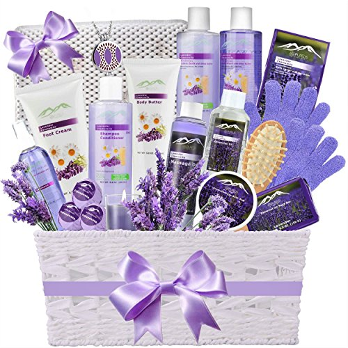 Lavender Ultimate Spa Gift Basket By Broadwaybasketeers Com: Premium Deluxe Bath & Body Gift Basket. Ultimate Large Spa