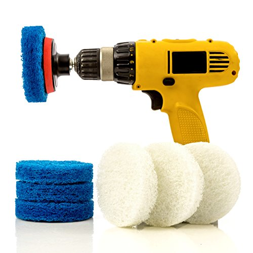Scouring Pad Brush Electric Drill Clean Kitchen Floor Hard: 3 Piece Drill Brush Attachment Set