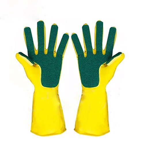 Magic Saksak Reusable Silicone Gloves With Wash Scrubber