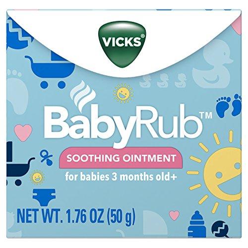 Vicks BabyRub Soothing Chest Rub Ointment, 1.76 Oz Pack of 6