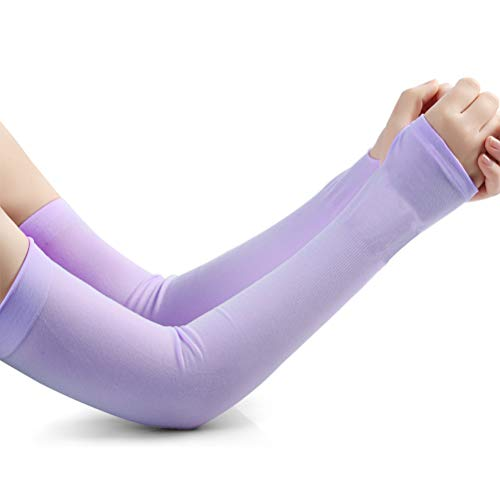 SUNCOOL UV Protection Cooling Arm Sleeves Cover Thumb Hole Outdoor Activities 1 Pcs Purple