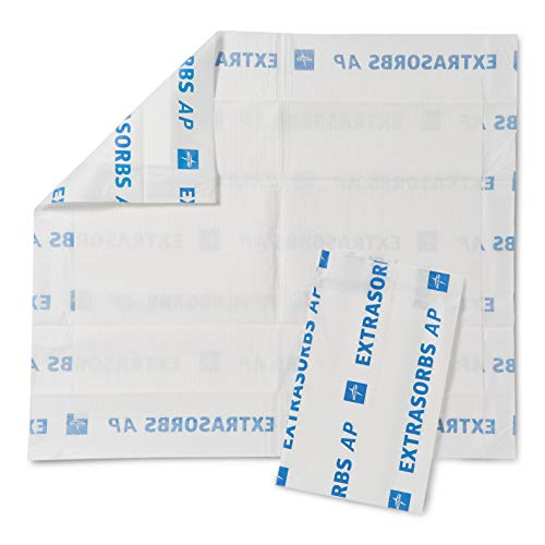 Medline Extrasorbs Drypad Underpads Air Permeable 30 x 36 inches Pack of 25