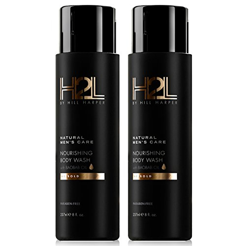 With Baobab, Sweet Almond, Avocado and Chia Seed Oils. For Men By Hill Harper 2 Bottles – H2L Premium Nourishing Body Wash
