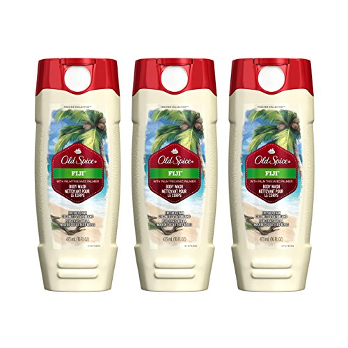 Old Spice Fresher Collection Fiji Scent Men's Body Wash 16 Oz Pack of 3