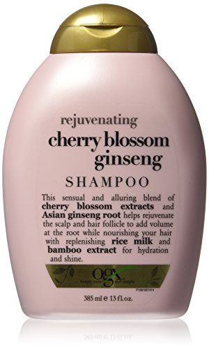 OGX Shampoo, Rejuvenating Cherry Blossom Ginseng, 13 Ounce