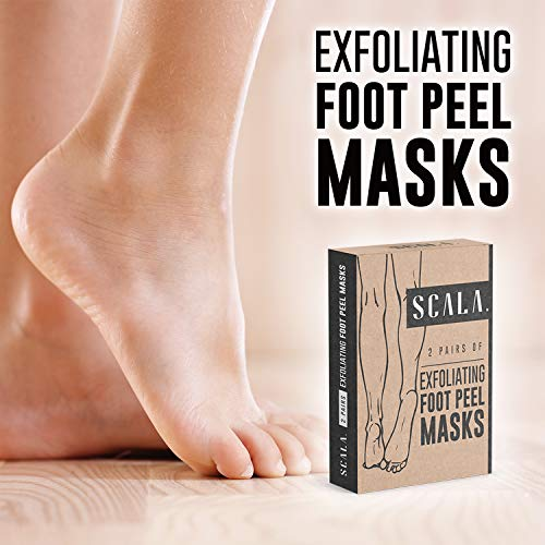 Exfoliant Gel Peels Away Rough Dry Skin and Callus – Foot Peel Exfoliating Mask 2 Pairs for Soft Baby Feet